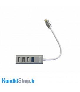 هاب 4 پورت USB-C بیاند مدل BA-450