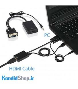تبدیل VGA به HDMI با برق USB